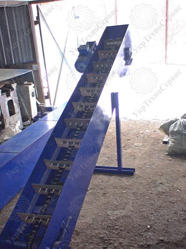 Скребковый конвейер цепной наклонный, производство и продажа в Украине
