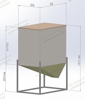 Габариты бункера пеллет - тип1