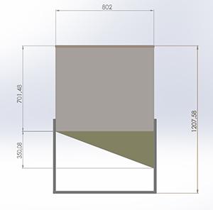 бытовой бункер пеллетного котла- тип1